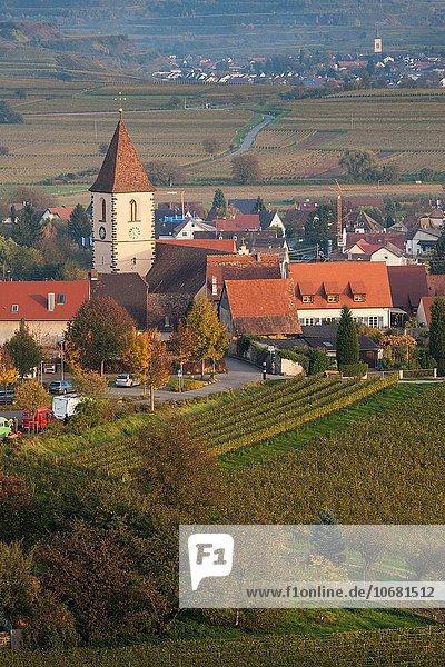 Dorf Ansicht Erhöhte Ansicht Aufsicht Weinberg heben Deutschland