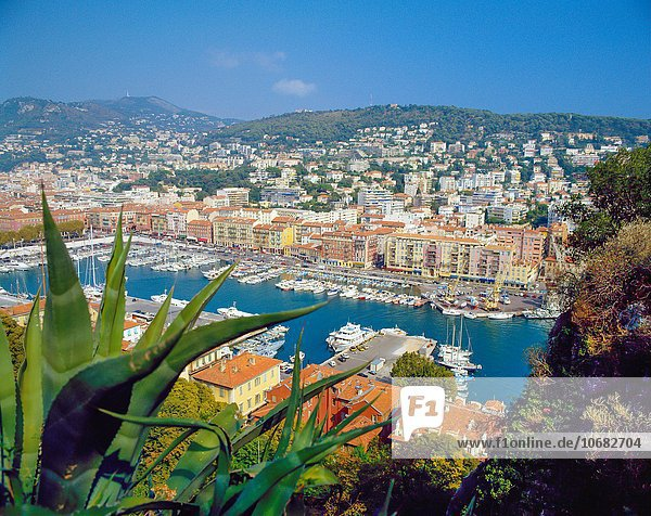 View over Bassin Lympia  Nice Cote D´azur France.
