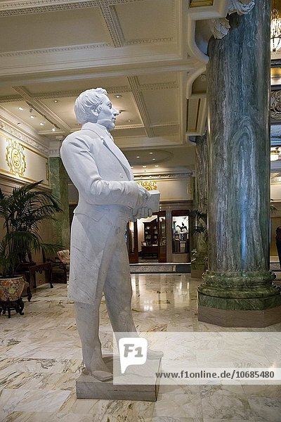 Salt Lake City  Utah - A statue of Joseph Smith  the founder of Mormonism in the Joseph Smith Memorial Building in Temple Square.