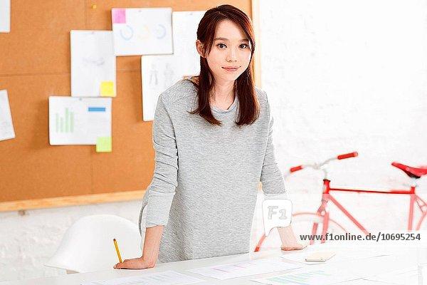 Portrait of young fashion designer