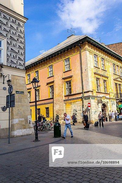 Europa Straße Krakau Polen