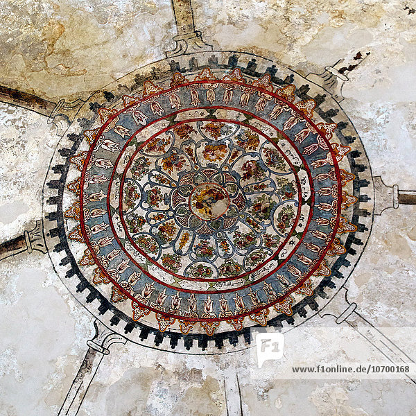 Detail of the ceiling in the Fethiye mosque in the Kastro in Ioannina city in Epirus province in Greece