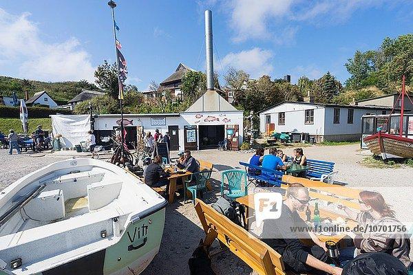 Tourist Geschichte Dorf Nostalgie Insel angeln Cafe Deutschland Halbinsel Vitt Wittow