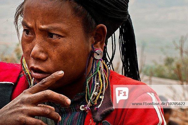 Dorf Ethnisches Erscheinungsbild Myanmar Nan