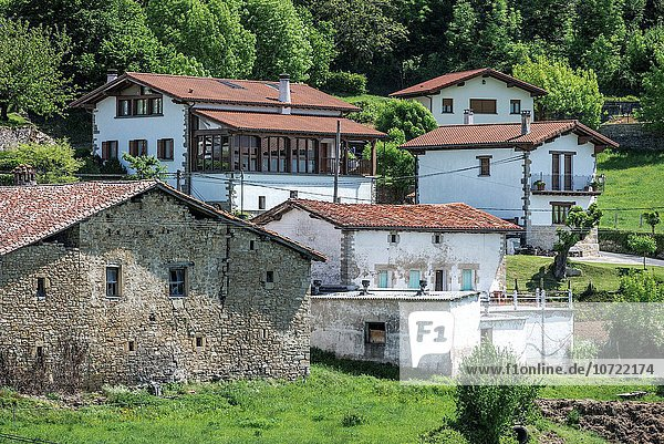 Etxaleku village  Imotz Valley  Navarre  Spain.