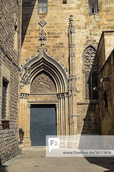 Stadtansicht Stadtansichten Kathedrale Barcelona Katalonien Spanien
