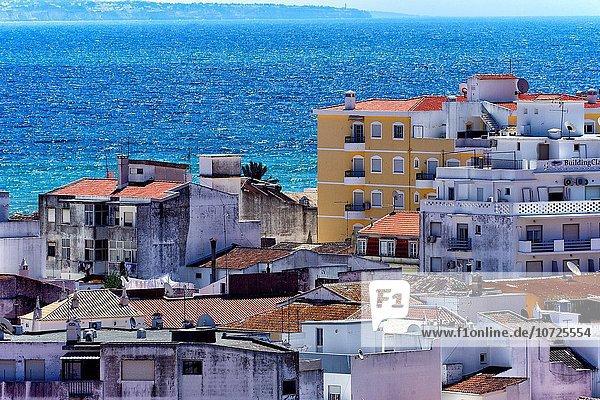 Europa über Stadt Ansicht Algarve Lagos alt Portugal