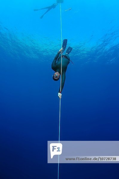 freediver  Aegean Sea  island Symi  Greece.