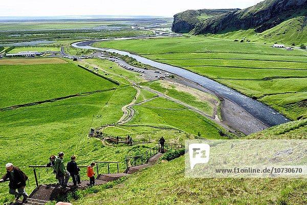 Stufe Tag Spritzer Produktion heraustropfen tropfen undicht hoch oben Wasserfall Sonnenlicht 1 Klettern Messgerät Ergebnis 200 60 Island Regenbogen