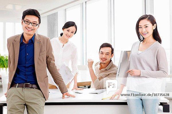 Teamwork Büro arbeiten Business