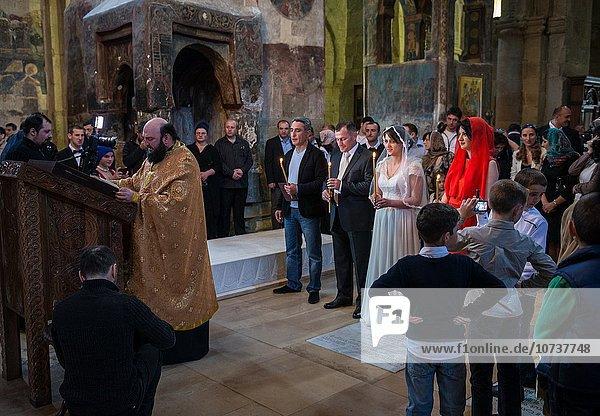 Hochzeit Stadt Geschichte Kathedrale Säule Zeremonie UNESCO-Welterbe russisch orthodox russisch-orthodox