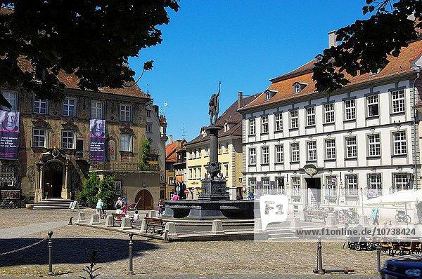 Altstadt Bodensee Bayern Deutschland Lindau Großer Ring Der Ring