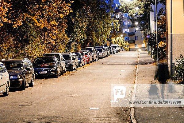 Stockholm Hauptstadt Straße Nachbarschaft Schweden