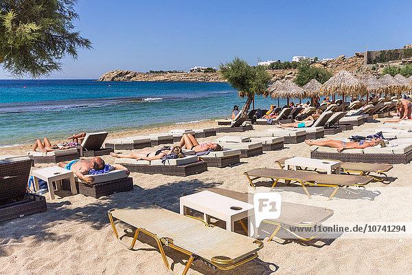 Greece  Cyclades Islands  Mykonos Island  Paradise beach