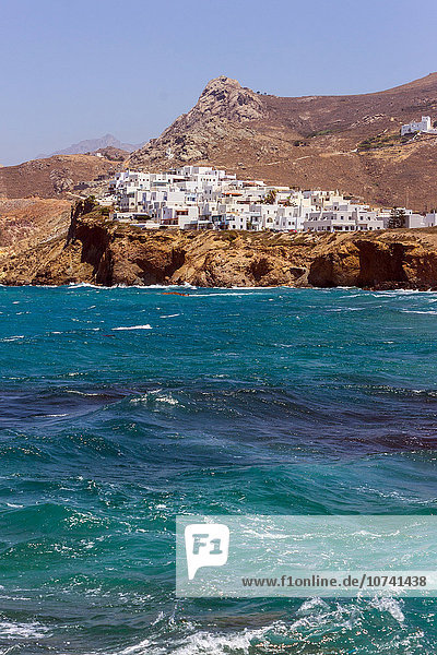 Greece  Cyclades Islands  Naxos  village landscape