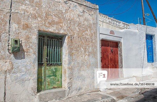 nahe Tradition klein Abstraktion Dorf Insel Ansicht Griechenland Santorin griechisch