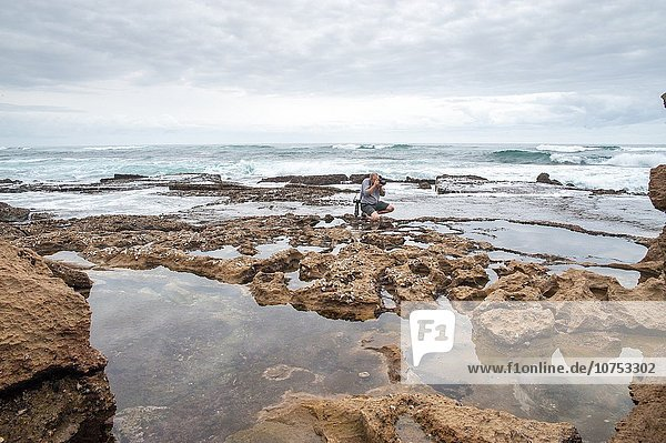 Südliches Afrika Südafrika Mann Landschaft Heiligtum fotografieren Luciafest Feuchtgebiet