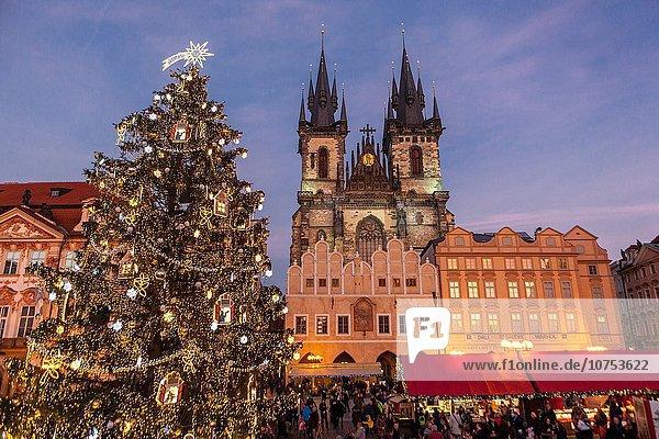 Prag, Hauptstadt, Weihnachten, Tschechische Republik, Tschechien, Markt