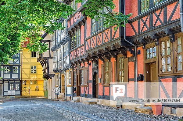 Half-timbered houses  Quedlinburg  Harz  Saxony-Anhalt  Germany  Unesco World Heritage Site. Half-timbered houses, Quedlinburg, Harz, Saxony-Anhalt, Germany, Unesco World Heritage Site.