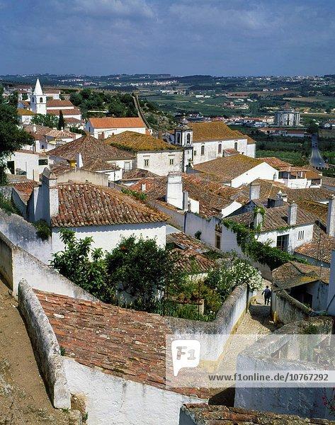 Weitwinkel Städtisches Motiv Städtische Motive Straßenszene Portugal