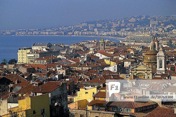 Frankreich Europa Stadt Hintergrund Ansicht Freundlichkeit Provence - Alpes-Cote d Azur Geographie Engel Bucht alt