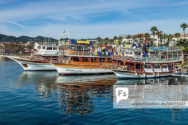Hafen Fröhlichkeit Boot Marmaris Türkei Provinz Mugla