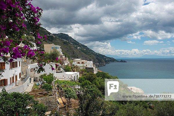 Küste Stadt Süden Geographie Amalfi Kampanien Wohngemeinschaft Italien Salerno