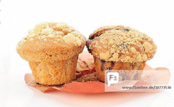 weiß Hintergrund Muffin Frühstück