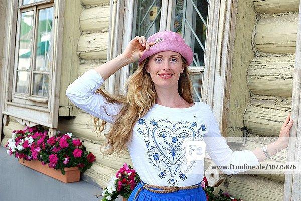 Woman in Kazan  Tatarstan  Russia