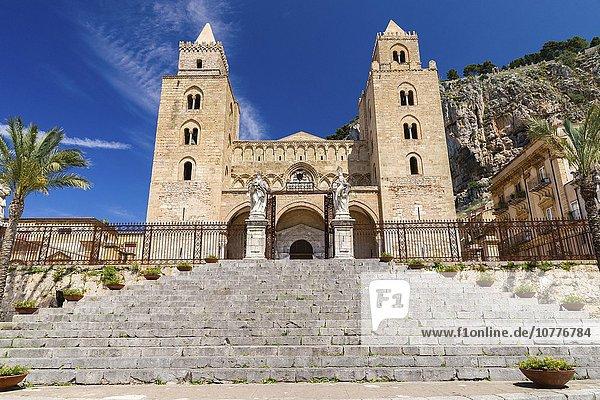 Kathedrale Santissimo Salvatore  Dom von Cefalù  Normannendom  Cefalù  Provinz Palermo  Sizilien  Italien  Europa