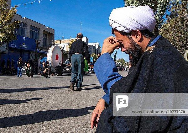 Iranian Shiite Muslim Mullah Crying During Ashura  The Day Of The Death Of Imam Hussein  Kurdistan Province  Bijar  Iran.
