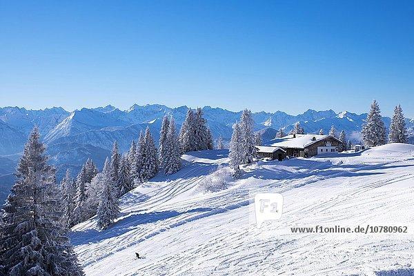 Tölzer Hütte  Skigebiet Brauneck bei Lenggries  Isarwinkel  Bayerische Voralpen  Oberbayern  Bayern  Deutschland  Europa