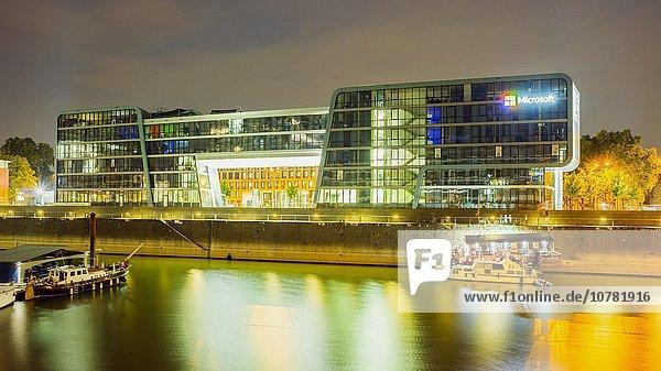 Bürogebäude RheinauArtOffice mit Firmensitz von Microsoft  Rheinauhafen  Köln  Nordrhein-Westfalen  Deutschland  Europa