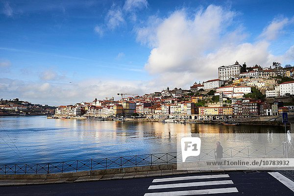 Old Town of Porto and River Duero  Oporto  Portugal  Europe.