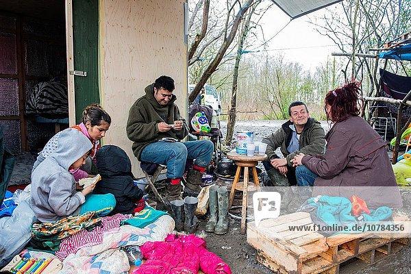 Frankreich Regenwald camping trinken Freiwilliger Straftat Frühstück Tee