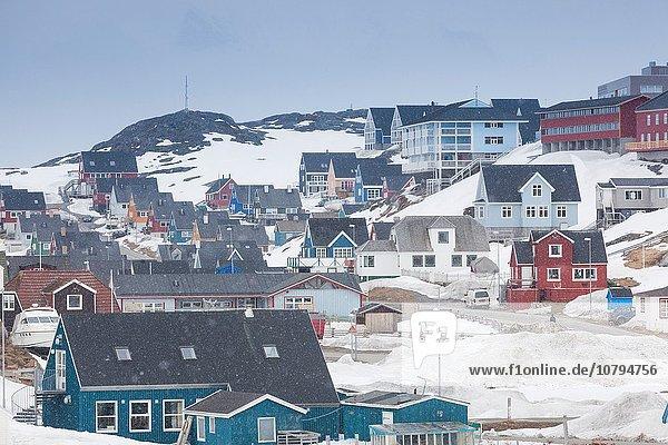 unterhalb Mittelpunkt Grönland Schnee