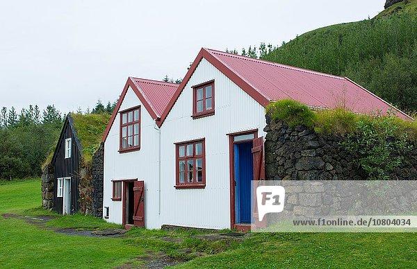 Gebäude Tourist Kirche Museum Island alt Torf