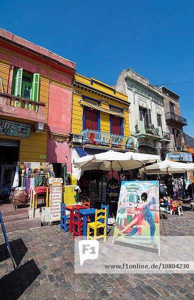 Farbaufnahme Farbe Helligkeit Gebäude Straße Tourist Restaurant Anfang Laden Argentinien