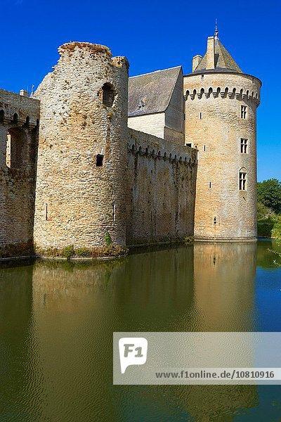 Suscinio Castle  Chateau de Suscinio  Sarzeau  Presqu´île de Rhuys  Morbihan  Bretagne  Brittany  France  Europe.