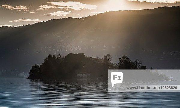 Kleine Insel  Lago Maggiore  Piemont  Lombardei  Italien