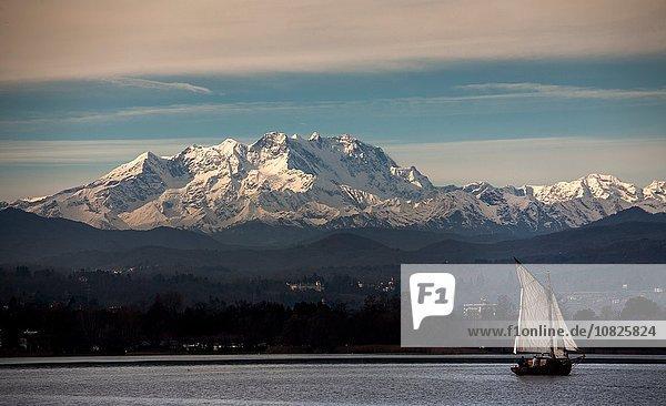 Monte Rosa  Lago Maggiore  Piemont  Lombardei  Italien