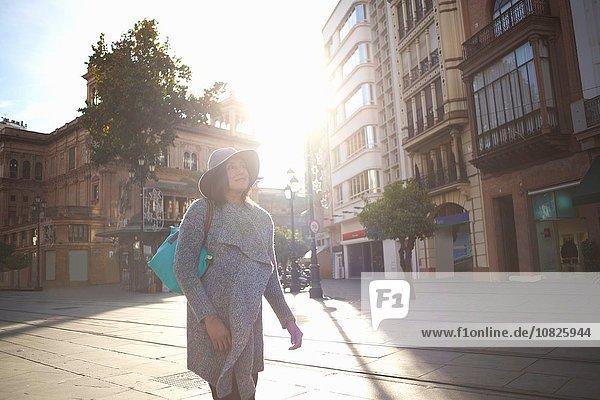 Woman sightseeing  Seville  Spain