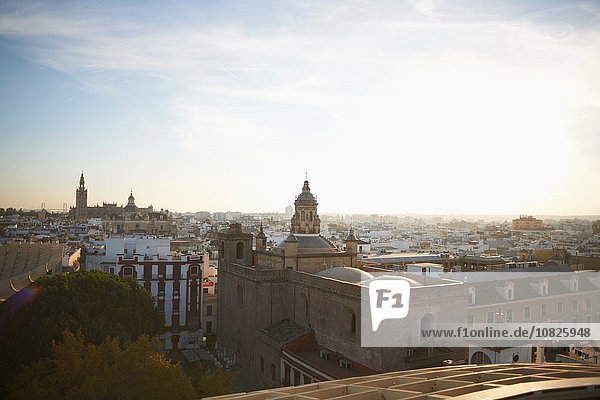 Aerial view of town  Seville  Spain