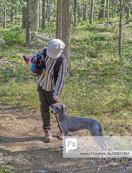 Kleidung Junge - Person Wald Hund Retro