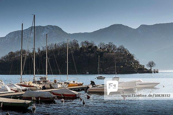 Anlegestelle für Boote  Comer See  Italien