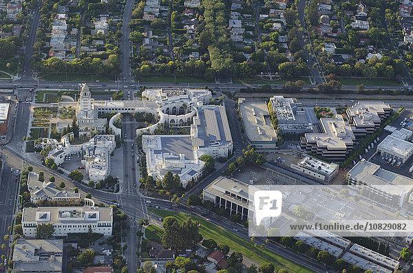 Stadtansicht Stadtansichten Nachbarschaft Ansicht Luftbild Fernsehantenne