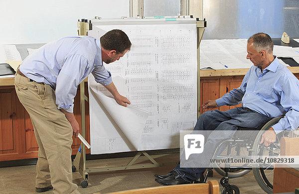 Europäer sprechen Architekt Büro