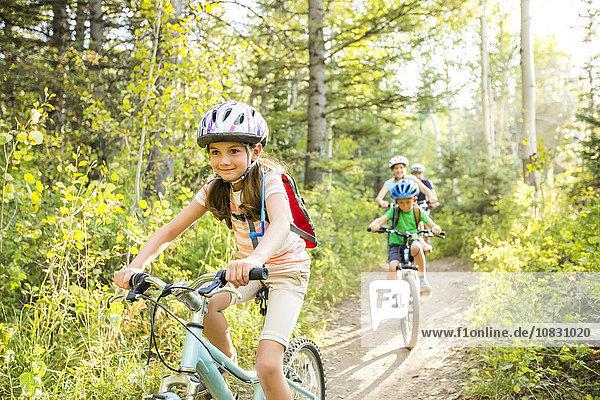 Europäer Fahrrad Rad Riding Mountain National Park