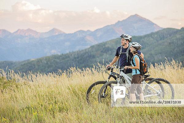 Europäer Feld Fahrrad Rad Riding Mountain National Park