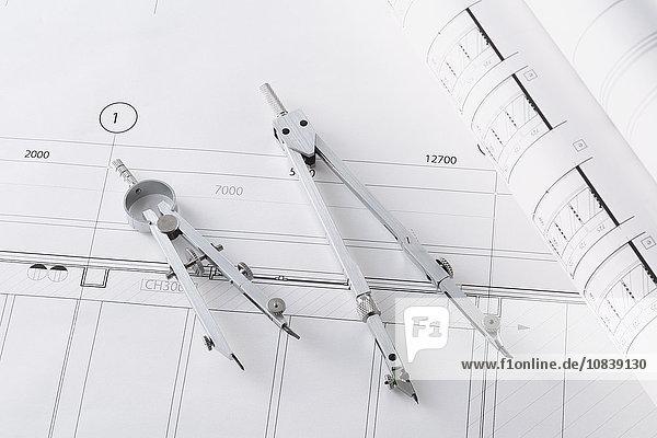 Planimetries in an architect studio